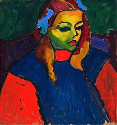 Alexei Jawlensky German, born Russia, 1864–1941 Girl with the Green Face, 1910