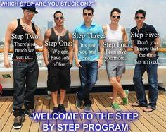 Step by Step program nkotb - always stuck on step 4