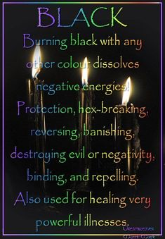 Candles: Black #Candle ~ Burning black with any ... / Book of Shadows
