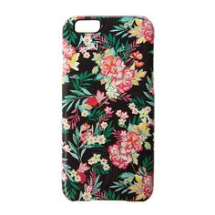 Tropical Flowers and Palm Leaves Cover for iPhone 6