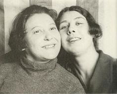 Varvara Stepanova and Liubov Popova. photographed by Alexander Rodchenko, Moscow 1924