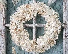 Wreath, Crochet Doily Wreath, Doily Wreath, Holiday Decor, Christmas Wreath, Table Centerpiece, Winter Wedding, Wall Hanging, Shabby Chic