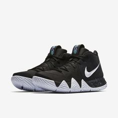 6d2078b17f3 Nike Kyrie 4 Ankle Taker Mens Basketball Shoes Black White for sale online