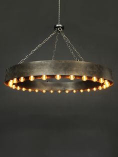 Industrial Ring Pendant Light with LED Lamps