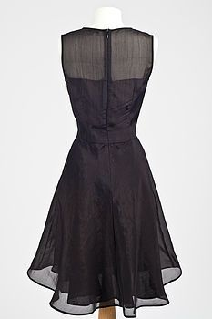 Neola Silk Organza Dress In Black - back