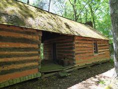 Old log cabin on property