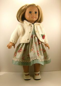 18 Inch Doll Clothes American Girl Off White Hand by dressurdolly2