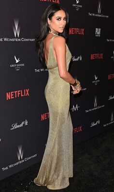Best Dressed Celebrities: See Their Dresses From the Back - Shay Mitchell