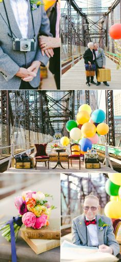 Up themed anniversary shoot - would be amazing for parents anniversary party | Style Me Pretty