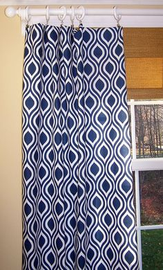 New Modern Nicole Leaf CURTAINS by Cathyscustompillows Blue And White Curtains, Leaf Curtains, Drapery, Living Room, Trending Outfits, Modern, Window, Home Decor, Ideas