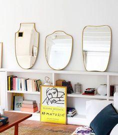 brass framed vintage mirrors. / sfgirlbybay