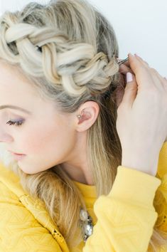 The Braided Crown | TheRawEdit #braidedcrown #hair
