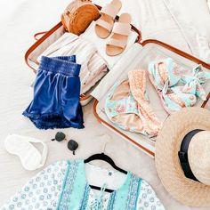 A good (Cabana Life) bikini, a sun protective rashguard, sandals to slip on, shades and a sun hat, and you're ready to go on vacation! Upf Clothing, Sun Protective Clothing, Rash Guard, Beach Trip, Cabana, Sun Hats, Beachwear, Bikinis, Swimwear