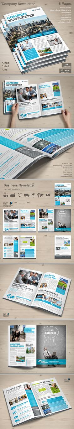 Corporate Business Newsletter Template  Newsletter Templates