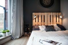 chambre parentale avec lit palettes