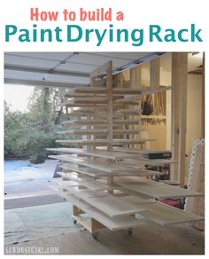 Woodworking Tricks Tools Paint Drying Rack for Cabinet Doors. Tricks Tools Paint Drying Rack for Cabinet Doors. Painting Cabinet Doors, Painting Kitchen Cabinets, Diy Cabinets, Painting Shelves, Diy Paint Booth, Diy Wood Countertops, Kitchen Renovation Design, Sawdust Girl, Diy Garage Storage