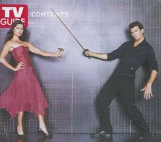 Woody and Jordan! (Jerry O'Connell and Jill Hennessy from TV's Crossing Jordan) Crossing Jordan, Jill Hennessy, Jerry O'connell, Tv Couples, Case Closed, Woody, Jordans, Formal Dresses, Fashion