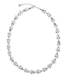 Cezanne Crystal Floral Necklace   Dillards.com