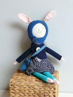 Bunny Vestido de muñeca, muñeca de trapo, muñeca, MIRJAM