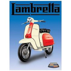10910 - Lambretta scooter x Vintage Metal Steel Advertising Sign Plaque Mod Scooter, Lambretta Scooter, Scooter Girl, Vespa Scooters, Scooter Motorcycle, Vespa Vintage, Moto Vintage, Vintage Style, Vintage Cars