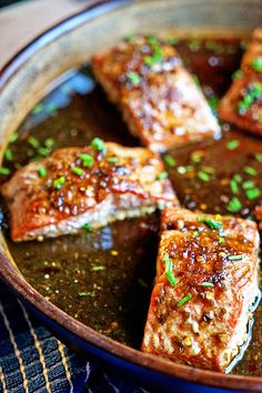 For this Thai Sweet Chili Glazed Salmon I use Birds Eye pepper, fish sauce, palm sugar, lime, water and tamarind paste for the marinade. Baked and then a quick broil for perfection.