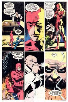 Marvel Comics Art, Anime Comics, Marvel Dc, Comic Book Artists, Comic Books Art, Frank Miller Daredevil, Daredevil Artwork, Frank Miller Art, Comic Tutorial