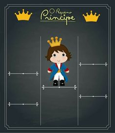 Convites Royal Prince, Chalkboard, Lucas 2, Baby Shower, Birthday, Party, Toddler Boy Birthday, Birthday Chalkboard, Card Templates Printable