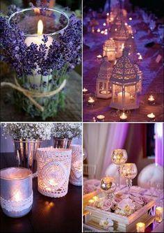 a la luz de las velas !!
