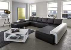 Wohnlandschaft Aurora –  Exklusives Designersofa –  designed by Ricardo Paolo® ca. 254 x 404 x 254 cm
