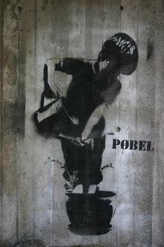 Street art in Bergen, by Pøbel.