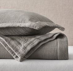 RH's Washed Herringbone Sateen Coverlet & Sham:Add rich, supple texture to the bed with our coverlet and sham's intricately quilted herringbone pattern. A special garment-washing technique makes the cotton sateen bedding even softer. Ivory Bedding, Coverlet Bedding, Bedding Sets, Bedspreads, Neutral Bedding, Comforters, Karim Rashid, Bar Design, Design Studio