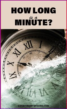 How long is a minute? A minute goes by in the blink of an eye. But, when you take the time to be present you realize just how long a minute really is. Chronic Fatigue Syndrome, Chronic Illness, Chronic Pain, Fibromyalgia, Scripture Quotes, Scriptures, Trivia Crack, Online Friends, Enjoy The Sunshine