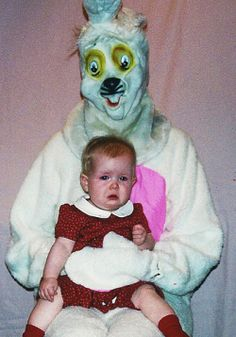 The horror! The horror! Horror-Inducing Easter Bunny Stand-ins!