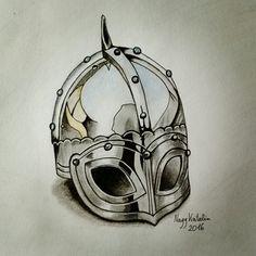'Realistic' helmet drawing