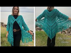Casaco-Kimono em Crochê - Casaco Gipsy - Katia Missau - YouTube Gilet Crochet, Crochet Cardigan Pattern, Crochet Jacket, Crochet Blouse, Easy Crochet Patterns, Crochet Scarves, Crochet Shawl, Crochet Clothes, Knit Crochet