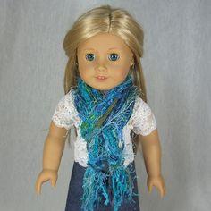 SKINNY STRING SCARF for American Girl Dolls by idreamofjeannemarie