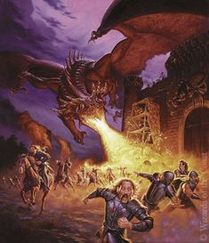 The Art of Todd Lockwood: Where Dragons Soar! Boris Vallejo, Dungeons And Dragons, Dnd Dragons, High Fantasy, Medieval Fantasy, Fantasy Creatures, Mythical Creatures, Bell Art, Dragon Images