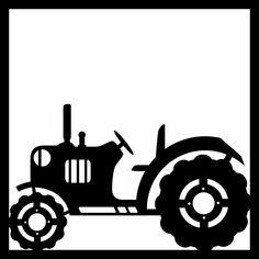 Tractor 12 x 12 Overlay Laser Die Cut