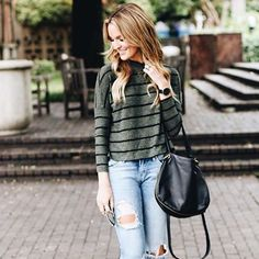 Weekend outfit inspo featuring @laurenkaysims + the Vale bag  #regram #hobobags #fall