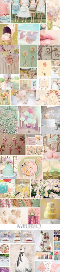 vintage pastel wedding inspiration from www.burnettsboards.com