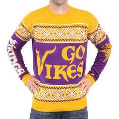 Unisex Minnesota Vikings Klew Purple Slogan Crew Knit Ugly Sweater e4af9d012