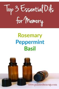 The best essential oils to help you with studying and memory! Great to help you focus on homework! Click the image to learn more!