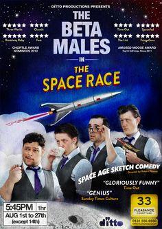 Beta Males Edinburgh Fringe Poster 2012,  by Me