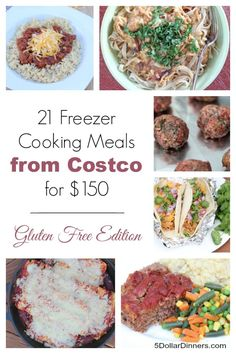 Come and see the newest 21 meal gluten free freezer cooking meal plan! 21 Meals from Costco for just $150! :: TodaysFrugalMom.com