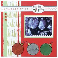 Hampton Art Deck the Halls Card by Diana Kovacs Ac Moore, Christmas Scrapbook Layouts, Hampton Art, Deck The Halls, Cardmaking, Diana, Scrapbooking, Frame, Holiday