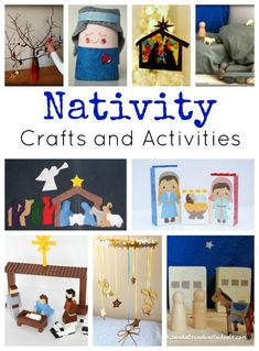 Nativity crafts and activities are the perfect Christmas fun for kids! These activities are reminders of the true meaning of Christmas and help put our focus in the right place. Grab these ideas as you celebrate the birth of the King. Christmas Activities For Kids, Preschool Christmas, Noel Christmas, Christmas Nativity, A Christmas Story, Christmas Themes, Advent Activities, Winter Activities, Christmas Printables