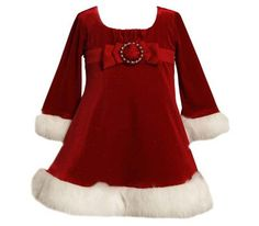 Baby & Toddler Girls Red Santa Holiday Dress by Bonnie Jean, Sizes 12-24M