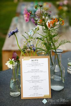 Menu, Jpg, Real Weddings, Glass Vase, Gras, Pirates, Decor, Menu Board Design, Decoration