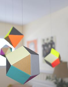 colorful geometric themis mobile from uncommon goods