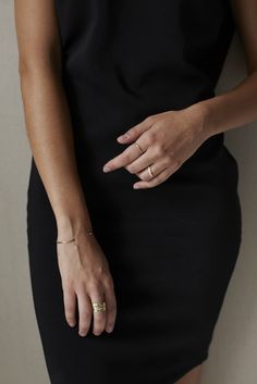 a simple cuff bracelet in 14K yellow or rose gold | perfect minimal jewelry | #failjewelry